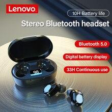Lenovo – écouteurs sans fil Bluetooth XT91 TWS, oreillettes, appels mains libres, casque stéréo basse avec micro, réduction du bruit