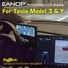 EANOP HUD 10.25'' Digital Touched Performance LCD Android 9.0 Media Player Dashboard for Tesla Model 3 Y Support Carplay 2/32GB