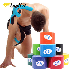 CoolFit 5 Size Kinesiology Tape Athletic Recovery Self Adherent Wrap Taping Medical Muscle Pain Relief Knee Pads Protector