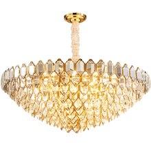 Modern Luxury Clear Glass Chandelier Lighting LED Bulb Indoor Lights Fixture Living Room Chandeliers Dining Room Bedroom Lamps все цены