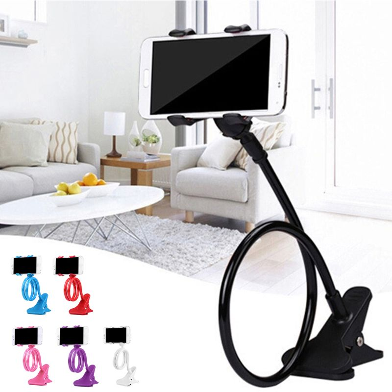 Universal Mobile Lazy Bracket Two Clamp Flexible Phone Stand Holder Bed Desktop Bracket Support For Mobile Phones Device