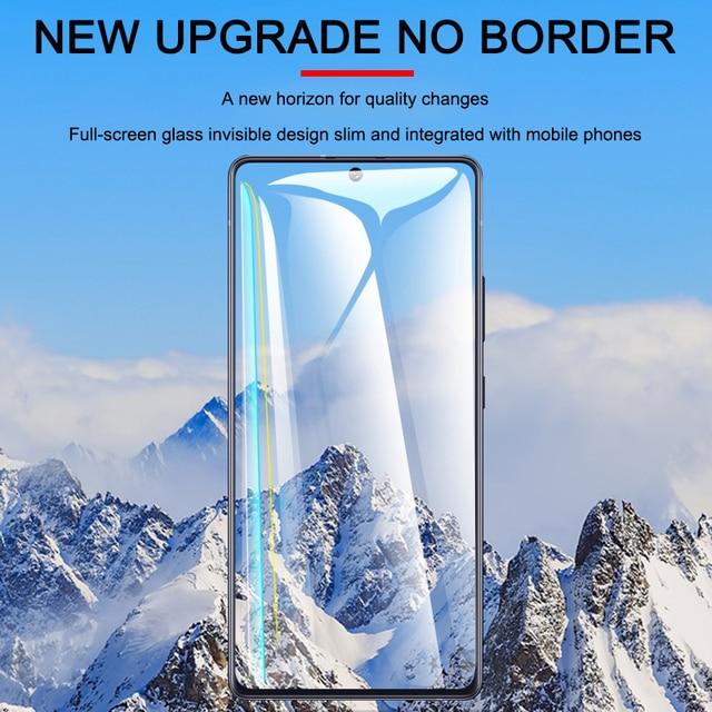 3Pcs Protective Glass On For Samsung A50 A70 A71 A51 Screen Protector Tempered Glass On Samsung A80 A90 A20 A30 A10 A20E Film 4