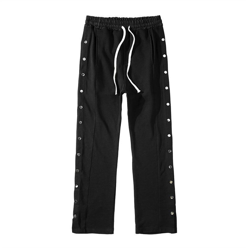 Owen Seak Men Pants 100% Cotton Gothic Men's Clothing Sweatpants Autumn Hip Hop High Sweater Women Solid Loose Pants Size XL