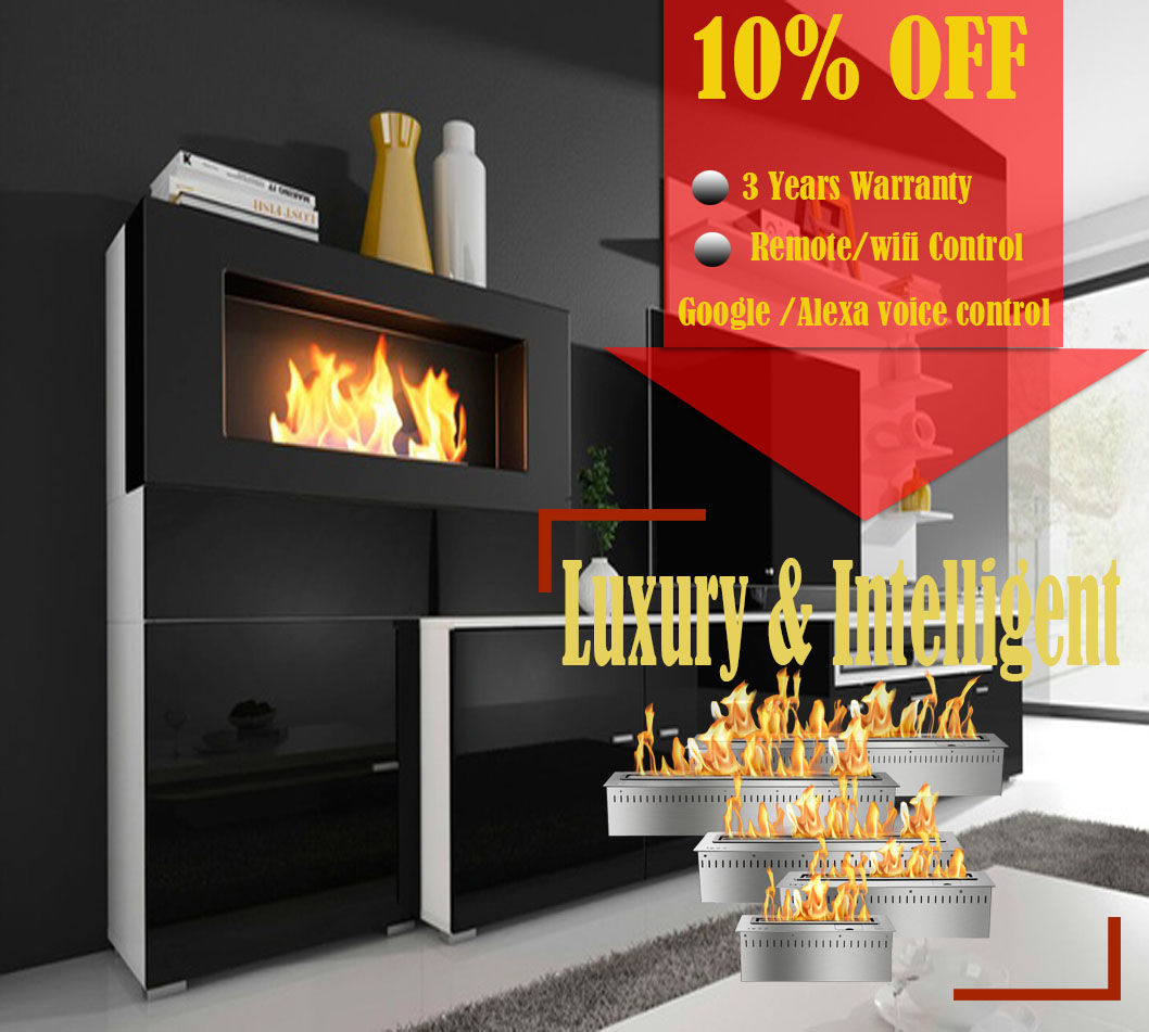 Inno-living Fire 36 Inch Bio Ethanol Fuel Fireplace Hanging