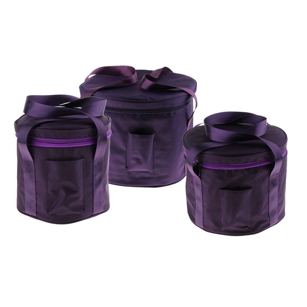 3pcs Portable coton stockage étui de transport sac pour 6-14 pouces chantant bol pièces