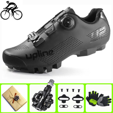 цена Professional men cycling shoes sapatilha ciclismo mtb SPD racing self-locking breathable mountain bike riding bicycle sneakers онлайн в 2017 году