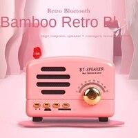 Retro bluetooth alto-falante computador novo mini presentes criativos novidade portátil cartão de rádio do telefone móvel estéreo
