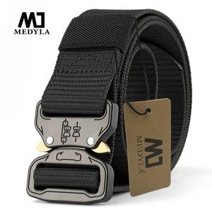 MEDYLA Official Genuine Tactical Belt Men Nylon Metal buckle Military SWAT Combat Belts Knock Off Emergency Survival Belt ZS3