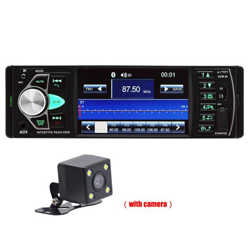 4.1 Inch HD Car MP5 Bluetooth Hands-free Vehicle MP5 Player Card Radio 4022D with Rear Camera image