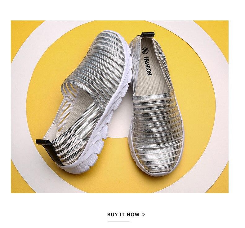 Women Flats Shoes Woman Loafers Slip-ons Platform Ballet Sneakers (17)