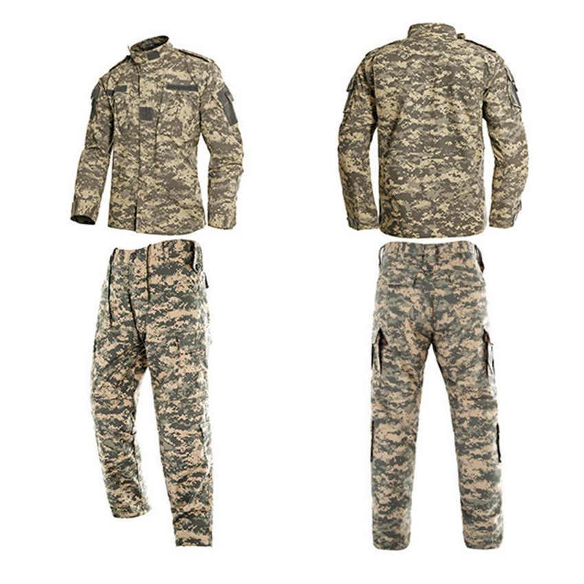 2PCs Mann Military Uniform Dschungel Deutsch Camouflage Kampf Airsoft Taktische Jacke Hosen Kleidung Set ACU CP Armee Anzug Großhandel