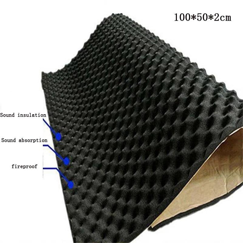 OHANEE 50X100cm Car Sound Deadener Mat Noise Insulation Thermal Gasket Acoustic Dampening Foam Subwoofer Hood Soundproof  Mat