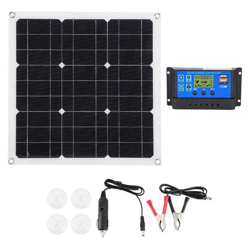 carregador solar fotovoltaico monocristalino portatil exterior dos paineis solares com carregador solar do controlador
