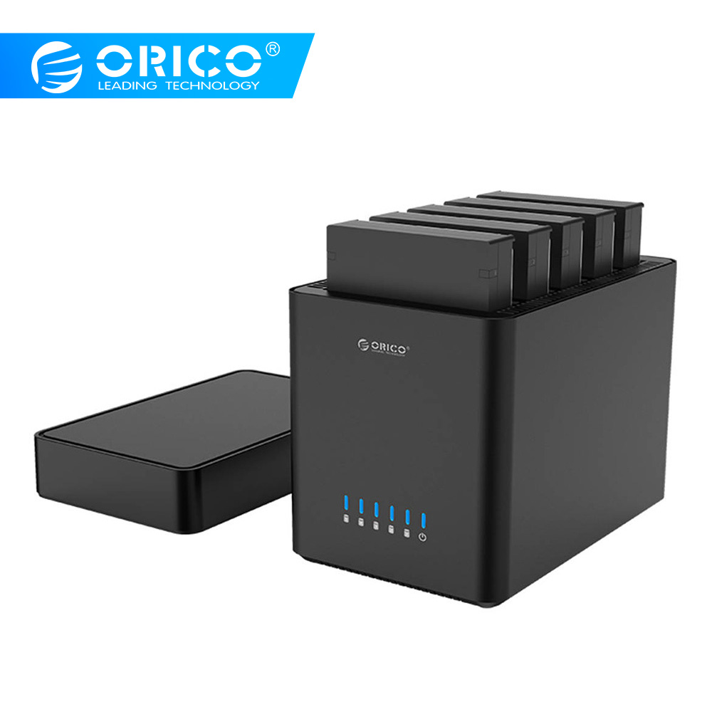 ORICO 5 baies de type magnétique 3.5 pouces USB3.0 HDD Station d'accueil Support 50 to Max 5Gbps UASP HDD boîtier sans outil HDD boîtier 12V
