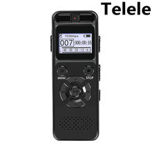 Telele enregistreur vocal numérique enregistrement Audio Dictaphone MP3 LED affichage vocal activé soutien 64G Expansion réduction du bruit(China)