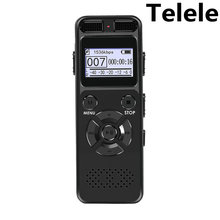 Telele Digital Voice Recorder Audio Recording Dictaphone MP3 LED Display Voice Activated Support 64G Expansion Noise Reduction