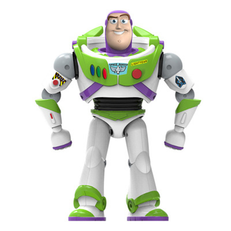 New Toy Story 4 Buzz Lightyear Can Walking Glowing English Songs Action Figure Model Children Collection Gifts image