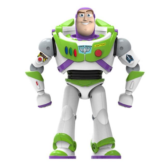 New Toy Story Buzz Lightyear 4 Pode Andar Brilhando Inglês Canções Action Figure Modelo Coleção Crianças Presentes