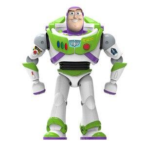 Image 1 - Nowy Toy Story 4 Buzz astral może chodzić świecące angielskie piosenki działania model figurki dzieci prezenty kolekcja