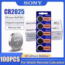 100 pièces Sony CR2025 CR 2025 DL2025 BR2025 KCR2025 3V batterie au Lithium pour montre jouet télécommande bouton piles Coin