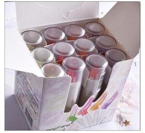 HengFang 12 Pcs Lipstick Set Color Change Lip blam Waterproof Lip Gloss Candy Repair Magic Fruit Lip Film 4 Colors include Box
