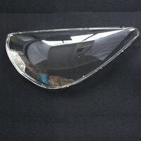 2 قطعة المصابيح الأمامية الأمامية الزجاج قناع غطاء المصباح شفافة قذيفة أقنعة لهوندا صالح 2004-2007