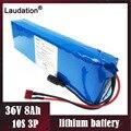 Laudation 36V 8ah литиевая батарея электрического велосипеда пакет 10S3P 18650 Аккумулятор для 500W E велосипеда ремень 15A bms Бесплатная доставка