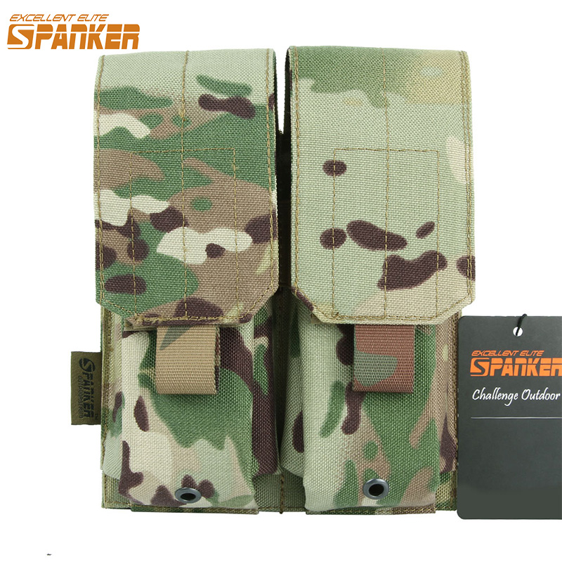EXCELLENT ELITE SPANKER Tactical <font><b>M4</b></font> <font><b>Magazine</b></font> Clip Outdoor Military Combat Camo <font><b>Magazine</b></font> Holster Hunting Accessories Pouch image