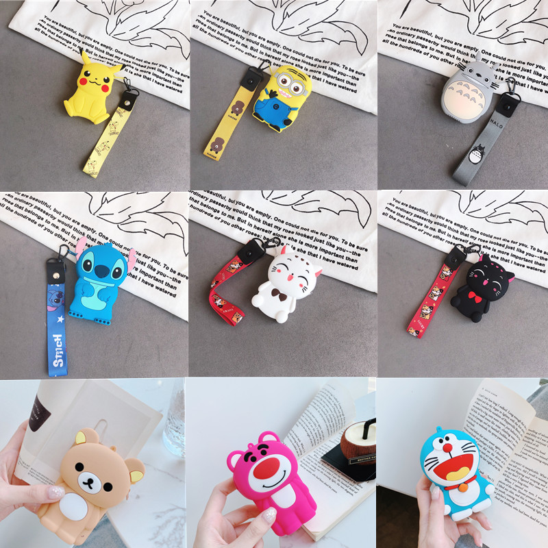 Cute Cartoon Women's Bags Zipper Mini Coin Purses Girls Money Pouch Small Women Wallet Key Holders Soft Silicone Portable Bags