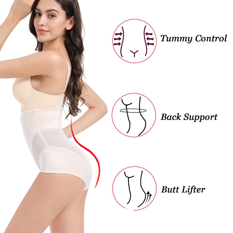 2Twinso High Waist Trainer Slimming Pants with Zipper Women Tummy Control Panties Hot Underwear Sexy Butt
