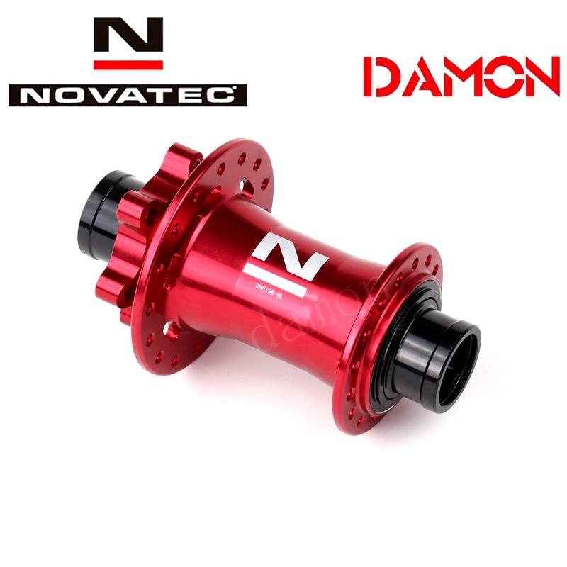 Novatec dh61sb mtb freio a disco 32 36 furos cubo de bicicleta dh através do eixo downhill mountain bike cubos dianteiros 20mm 110mm 2 rolamentos