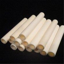 300 мм Длина изоляционная глиноземистая керамическая труба полое сжигание Высокая термостойкость коррозионная износ керамическая труба корунд