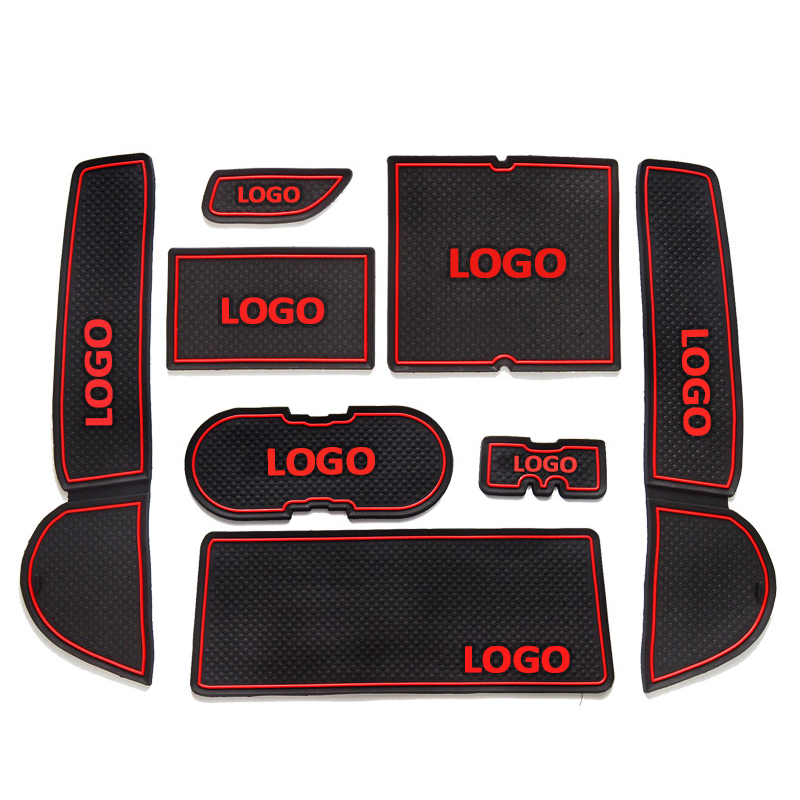 8Pcs/set For <font><b>Mazda</b></font> <font><b>6</b></font> Coupe 2009 <font><b>2010</b></font> 2011 2012 2013 2014 2015 Auto anti-slip cup holder mat non slip door gate slot pad image