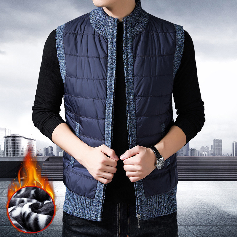 ICPANS Winter Vest Men Warm Fleece Winter Parka Waistcoats Streetwear Gilet Homme 2019 New Sleeveless Jacket Men