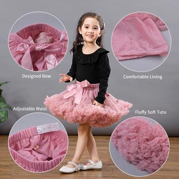 Dziewczyny dzieci Tutu spódnica dzieci ubrania Tutu spódnica księżniczka moda Tulle Dancewear Fluffy balet Party Stars cekiny modna spódnica tanie i dobre opinie FCLHDWKK Na co dzień CN (pochodzenie) Pasuje prawda na wymiar weź swój normalny rozmiar Poliester Patchwork Łuk Powyżej kolana Mini