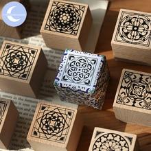 YueGuangXia потеряли в Париже Флора дизайн рисунок деревянные резиновые штампы для украшения скрапбукинг DIY ремесло стандартные деревянные штампы