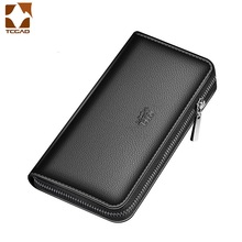 Men's Wallet Clutch Bag Billeteras Para Hombre Mens Wallet Man Purse Leather Genuine Luxury Carteira Masculina Couro 2021