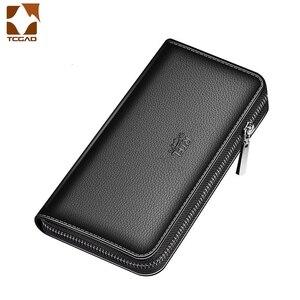 Men's Wallet Clutch Bag Billeteras Para Hombre Mens Wallet Man Purse Leather Genuine Luxury Carteira Masculina Couro 2020