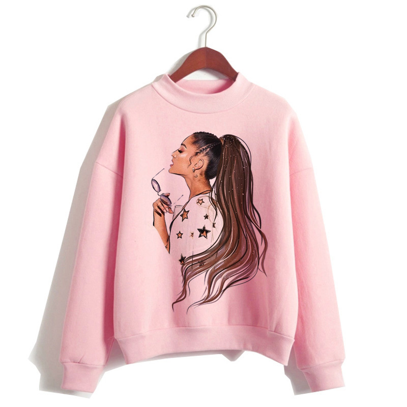 Ariana Grande Women Hoodies Kpop Clothes Fashion 90s Casual Sweatshirt Thank U Next Kawaii Hood Hooded Streetwear Female