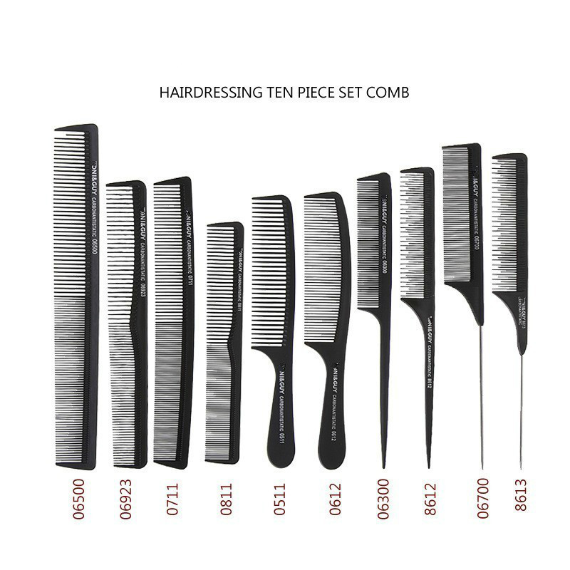 Professional Salon Hair Combs Kits Barber Cutting Comb Brushes Anti-static Hairbrush Hair Care Styling Tool Set