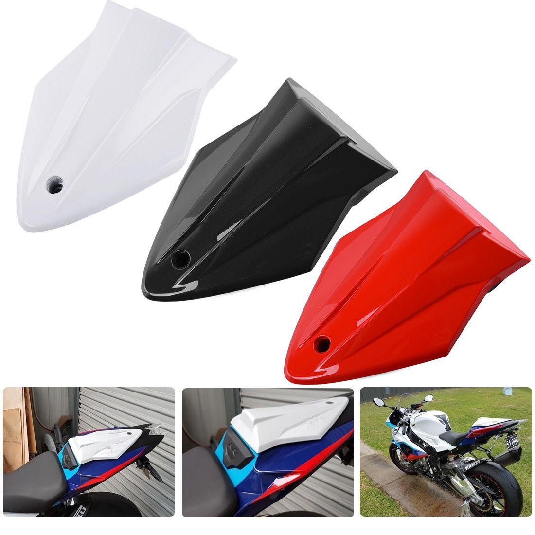 Motorcycle Pillion Solo Rear Seat Cover Cowl Fairing ABS for BMW S1000RR S1000 RR S1000R 2013 2014 2015 2016 Black Red White image