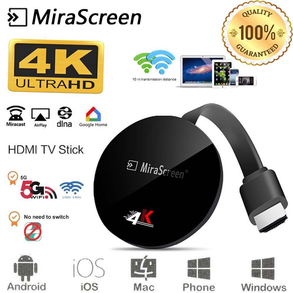 HDMI Mirascreen Wireless Display 2.4 / 5G 4K TV Stick For Google Chromecast 2 Youtube Mirroring Anycast Miracast TV Dongle