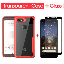 Luxury Shockproof Phone Case For Google Pixel 3A Soft Transparent Case Cover For Google Pixel 2 XL 3 XL 3A 3AXL Silicone Case(China)