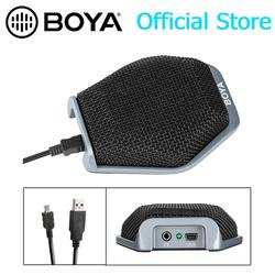 BOYA USB Desktop Conference Computer Stereo Microphone 180 Degree / 20 Pickup Range for Windows & Mac & Laptop Business