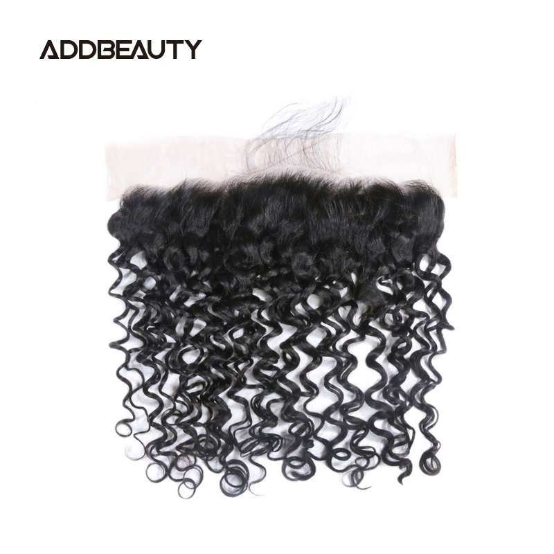 5x5 HD Lace Closure 13x4 Water Wave Frontal Brazilian Raw Virgin Human Hair Natural Color Pre-plucked Hairline Free Part 130%