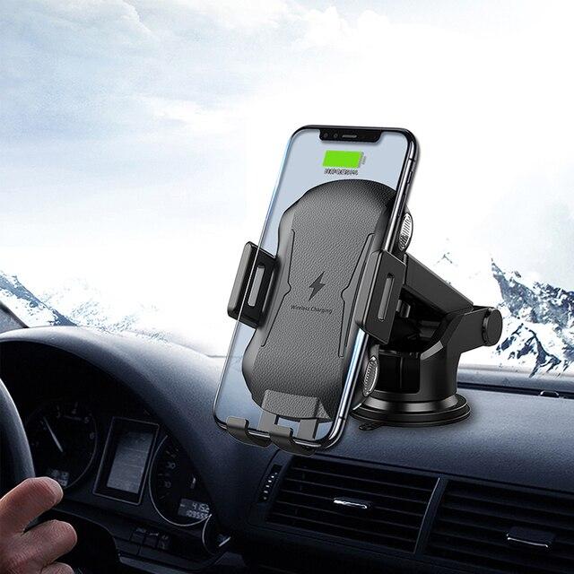 10 Вт Быстрая зарядка беспроводной телефон зарядное устройство автомобиль держатель автоматическое автомобильное зарядное устройство