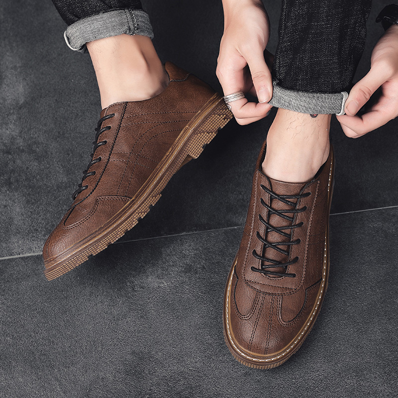 Men Shoes Dress Retro Design Classic Business Formal Shoes PU Leather Dress Shoe Men Oxford Male Footwear Lace-up Calzado Hombre