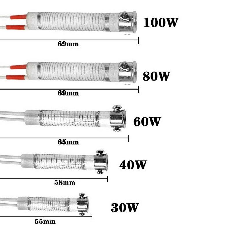 Высококачественный паяльник 220 в 30/40/60/80/100 Вт, сменный сварочный инструмент для нагрева, аксессуар для металлообработки, Прямая поставка