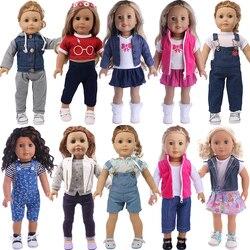 Одежда для кукол, 3 шт./компл., для американских девочек 18 дюймов, 43 см, для новорожденных, 38 см, Nenuco Ropa y su Hermanita,Xmas