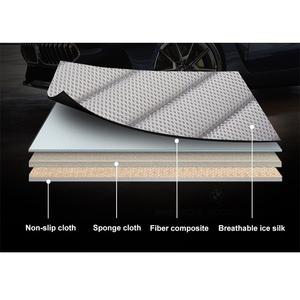 Image 5 - Ultra Luxury Car Seat Protection Single Seat Without Backrest Breathable Ice silk Car Seat Cover For Most Four Door Sedan&SUV